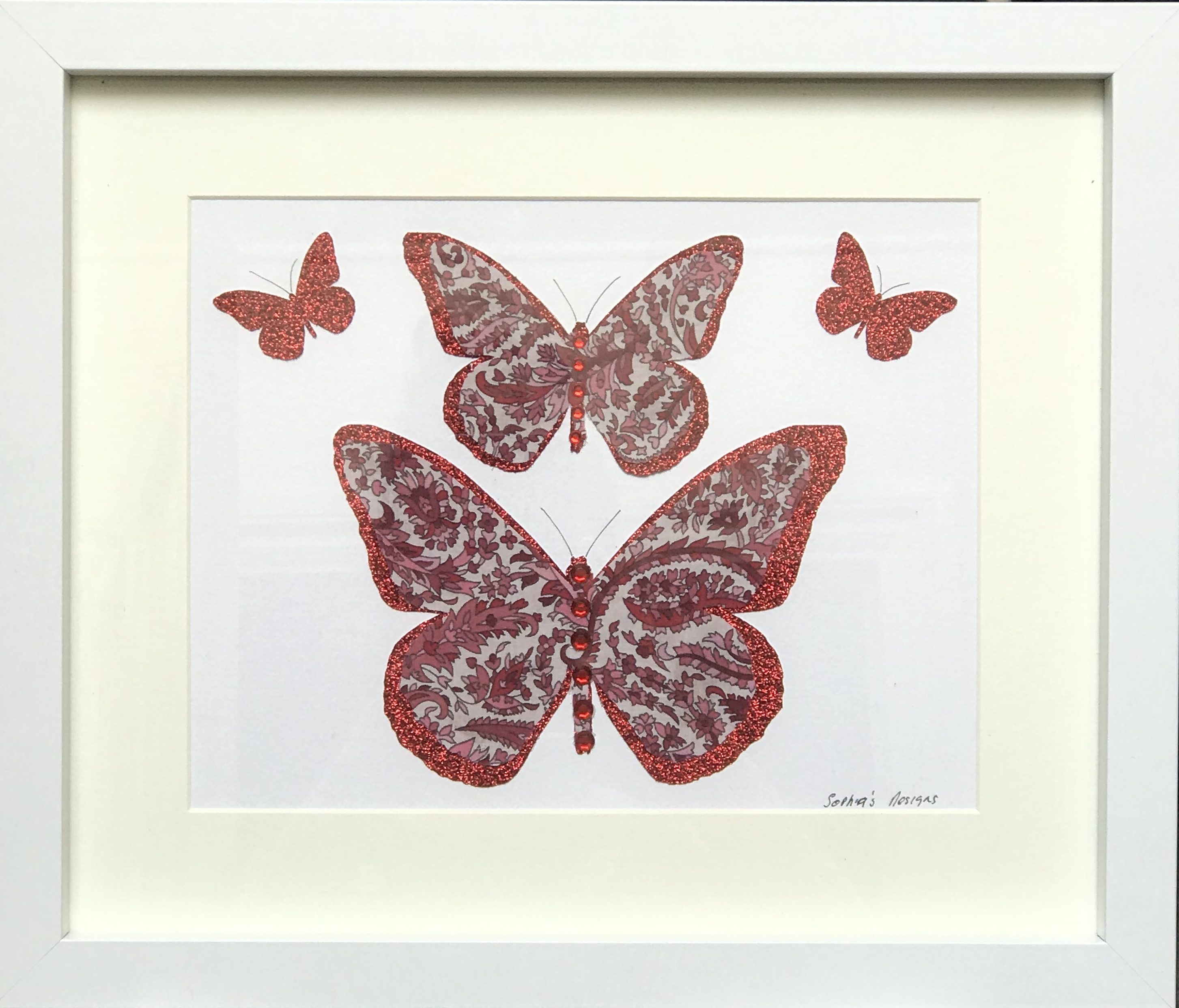 Scarlett the Butterfly Framed Wall Art
